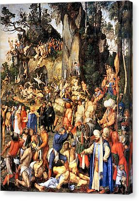 Matyrdom Of The Ten Thousand Canvas Print