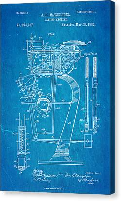 Quilter Canvas Print - Matzeliger Lasting Machine Patent Art 1883 Blueprint by Ian Monk