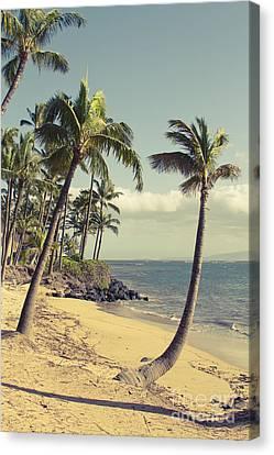 Canvas Print featuring the photograph Maui Lu Beach Hawaii by Sharon Mau