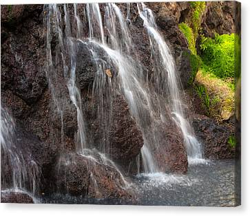 Maui Man In Shower Canvas Print by Michael Flood