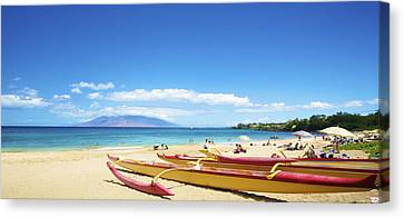 Maui Outriggers Canvas Print by Kicka Witte