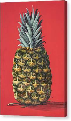 Maui Pineapple 2 Canvas Print by Darice Machel McGuire