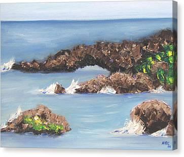 Maui Rock Bridge Canvas Print