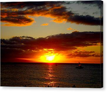 Canvas Print featuring the photograph Maui Seascape by Tamara Bettencourt