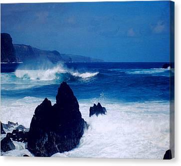 Maui Shore At The Keanae Pennisula Canvas Print
