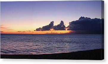 Canvas Print featuring the photograph Maui Sunset Panorama by Harold Rau