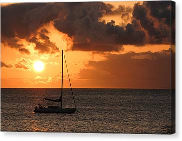 Maui Sunset Canvas Print by Shane Kelly
