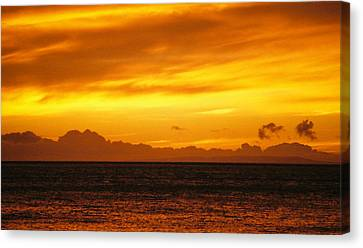 Maui Sunset Sun 125 Canvas Print