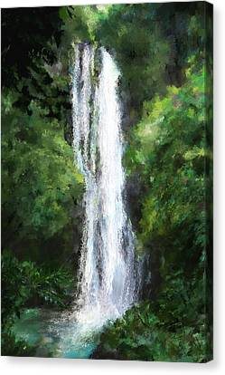 Maui Waterfall Canvas Print