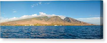 Canvas Print featuring the photograph Maui's Southern Mountains   by Lars Lentz