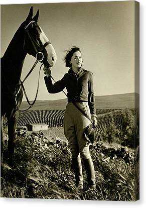 Sullivan Canvas Print - Maureen O'sullivan Standing On A Hill by George Hurrell