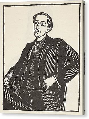 Half-length Canvas Print - Maurice Barres, Copy By Boris by Jacques-Emile Blanche