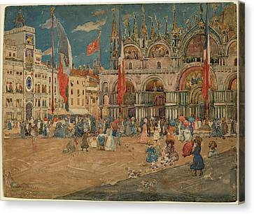 San Marco Canvas Print - Maurice Brazil Prendergast, The Piazza San Marco by Quint Lox