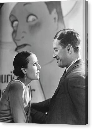Maurice Chevalier And Yvonne Vallee Canvas Print