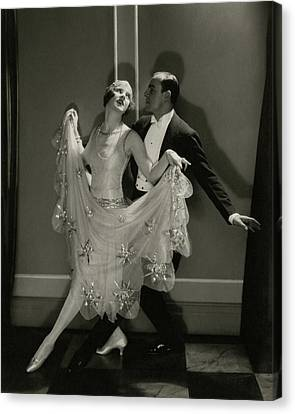 Maurice Mouvet And Leonora Hughes Dancing Canvas Print by Edward Steichen
