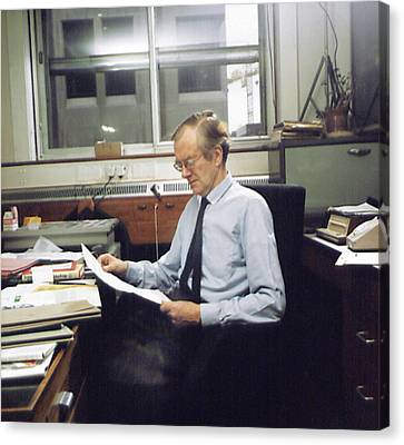 Maurice Wilkins Canvas Print by King's College London Archives