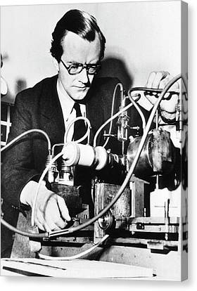 Maurice Wilkins Canvas Print by National Library Of Medicine