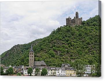 Maus Castle In Germany Canvas Print by Oscar Gutierrez