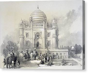 Mausoleum Of Jufhir Junge, Delhi Canvas Print