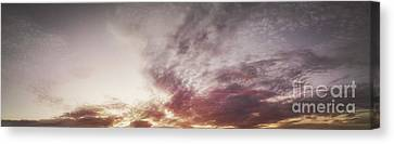 Mauve Skies Canvas Print by Holly Martin
