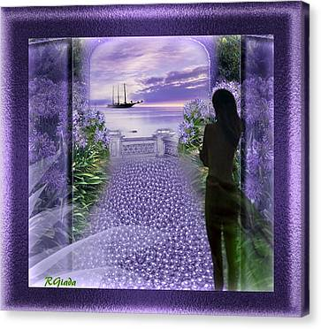 Mauve Waiting Canvas Print by Giada Rossi