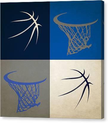 Mavericks Ball And Hoop Canvas Print by Joe Hamilton
