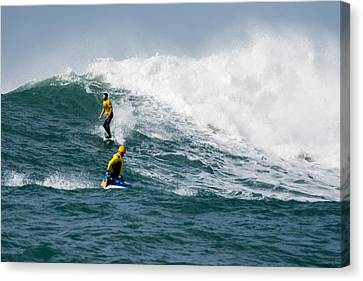 Mavericks Invitational 2014 Series 16 Canvas Print by Josh Whalen