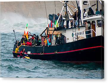 Mavericks Invitational 2014 Series 19 Canvas Print by Josh Whalen