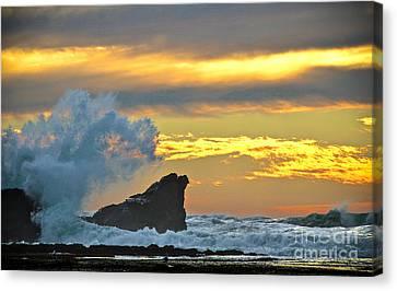 Mavericks - Princeton By The Sea Canvas Print by Amy Fearn