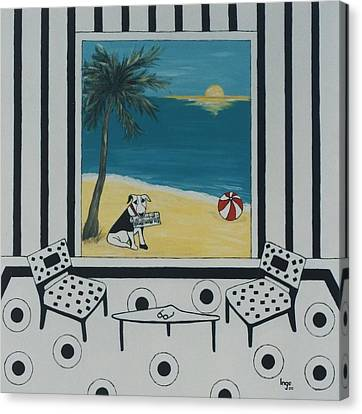 Max And The Miami Herald Canvas Print by Inge Lewis