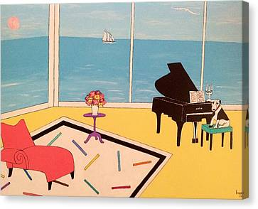 Max At The Piao Canvas Print by Inge Lewis