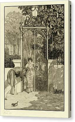 Max Klinger, At The Gate Am Thor Pl Canvas Print by Quint Lox