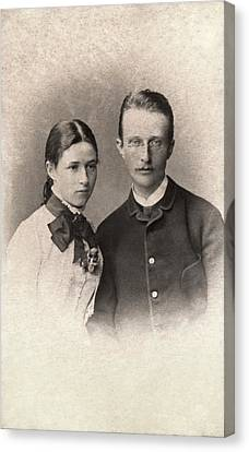 Quantum Theory Canvas Print - Max Planck And Wife by American Philosophical Society