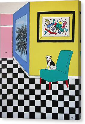 Max Relaxing  Canvas Print by Inge Lewis