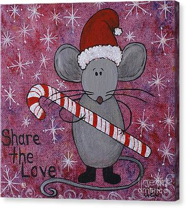 Canvas Print featuring the painting Max The Mouse by Jane Chesnut
