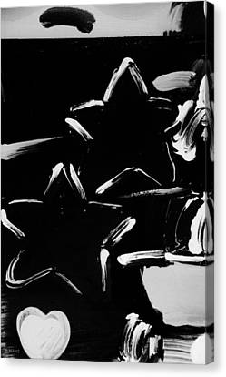 Max Two Stars In Black And White Canvas Print by Rob Hans