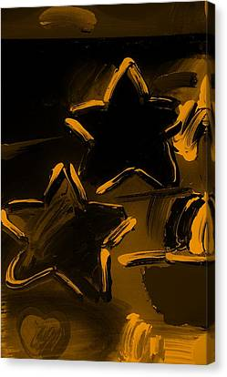 Max Two Stars In Orange Canvas Print by Rob Hans