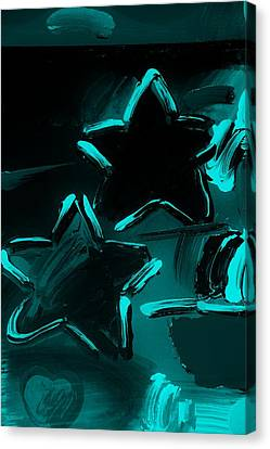 Max Two Stars In Turquois Canvas Print by Rob Hans