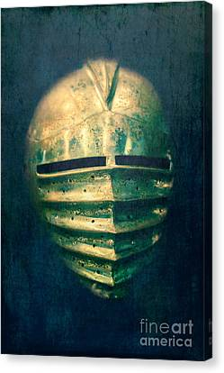 Maximilian Knights Armour Helmet Canvas Print by Edward Fielding