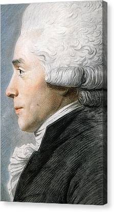 Maximilien De Robespierre  Canvas Print by Joseph Boze