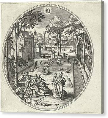 May, Adriaen Collaert, Hans Bol, Hans Van Luyck Canvas Print by Adriaen Collaert And Hans Bol And Hans Van Luyck