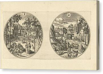 May And June, Adriaen Collaert, Hans Bol Canvas Print