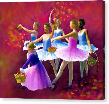 May Dancers Canvas Print by Ric Darrell