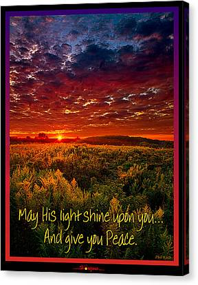 May His Light Shine On You Canvas Print by Phil Koch