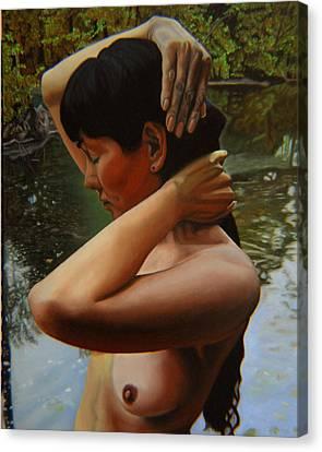 May Morning Arkansas River 3 Canvas Print by Thu Nguyen