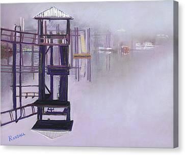 May River Fog Canvas Print by David Randall