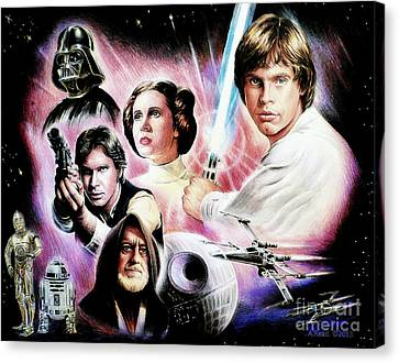 May The Force Be With You 2nd Version Canvas Print by Andrew Read