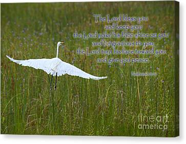 May The Lord Bless You Canvas Print