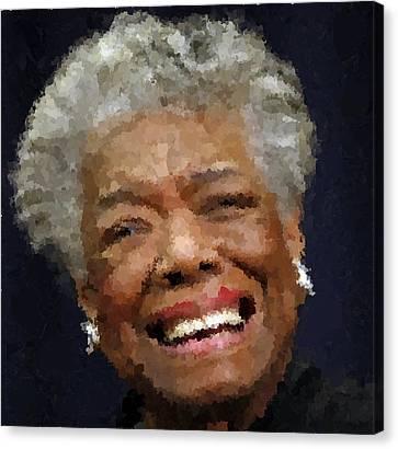 Maya Angelou Portrait Canvas Print