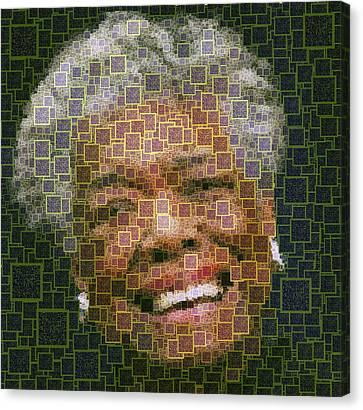Maya Angelou - Qr Code Canvas Print